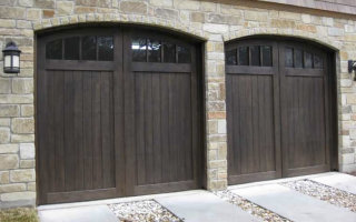 Dark Garage Door Salida